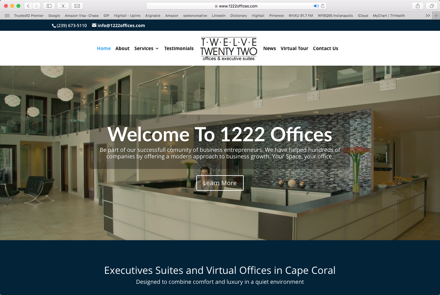 Twelve Twenty Two Offices (website re-design and SEO plan)