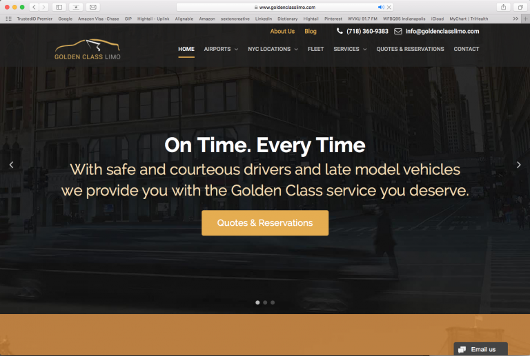 Golden Class Limo (revamped website and SEO package)