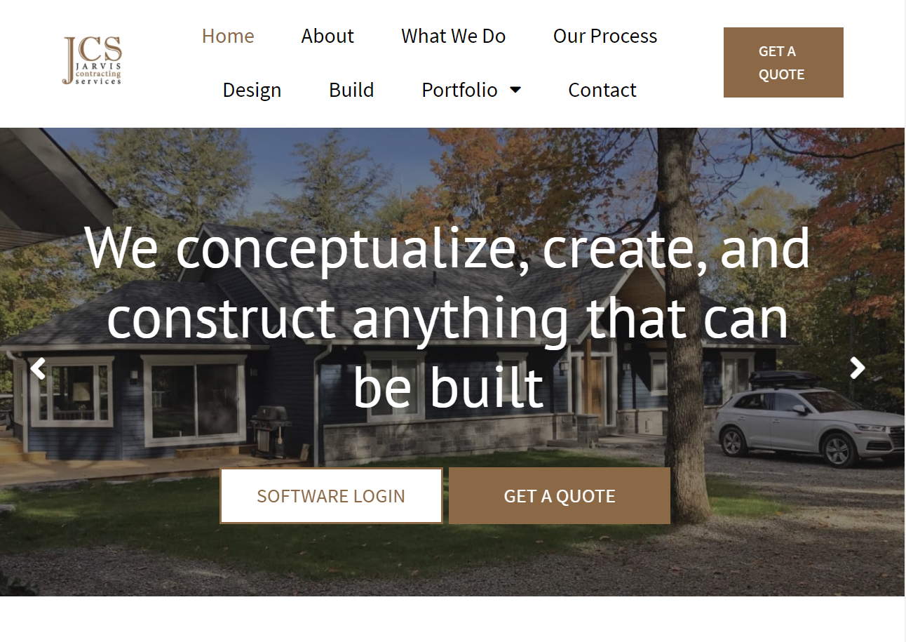 Jarvis Contracting Services Custom SEO Optimized Website